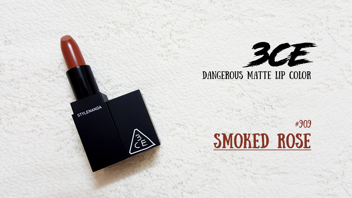 3CE MATTE LIP COLOR #909 SMOKED ROSE