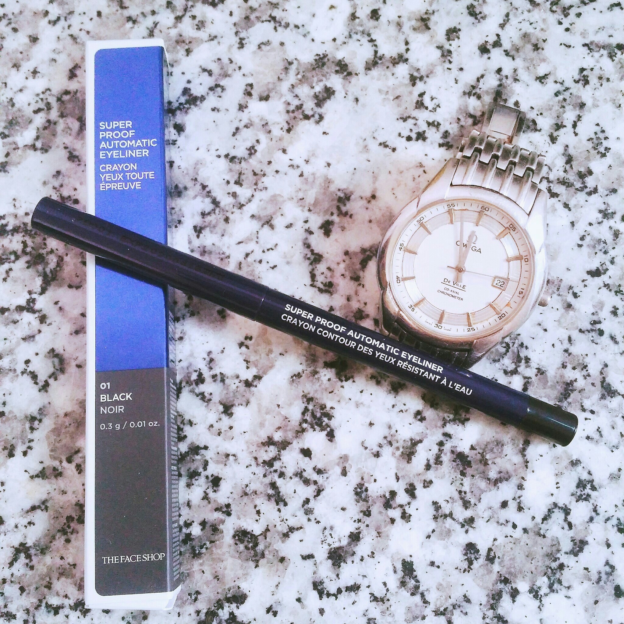 Kẻ Mắt Chống Nước Super Proof Automatic Eyeliner The Face Shop