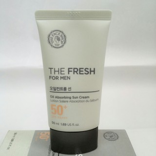 Chống nắng dành cho nam THE FRESH FOR MEN OIL ABSORBING SUN CREAM SPF50+