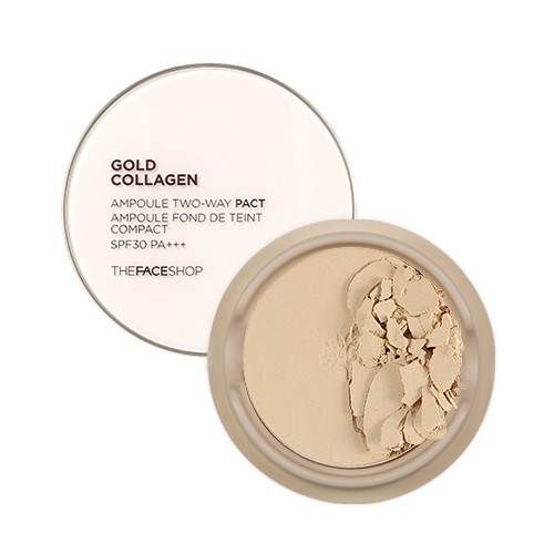 Phấn phủ Gold Collagen Ampoule Two-way Pact SPF 30++ The Face Shop