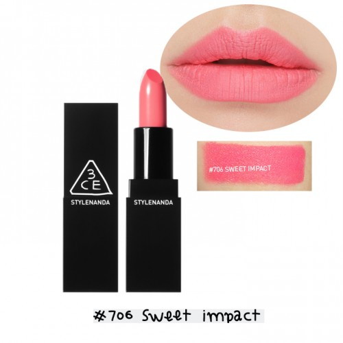 Son 3CE Matte Lip Color #706 Sweet Impact - hồng baby