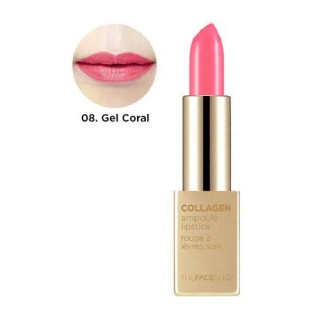 Son Thỏi Collagen Ampoule Lipstick The Face Shop #08 Gel Coral