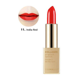 Son Thỏi Collagen Ampoule Lipstick The Face Shop #11 India Red