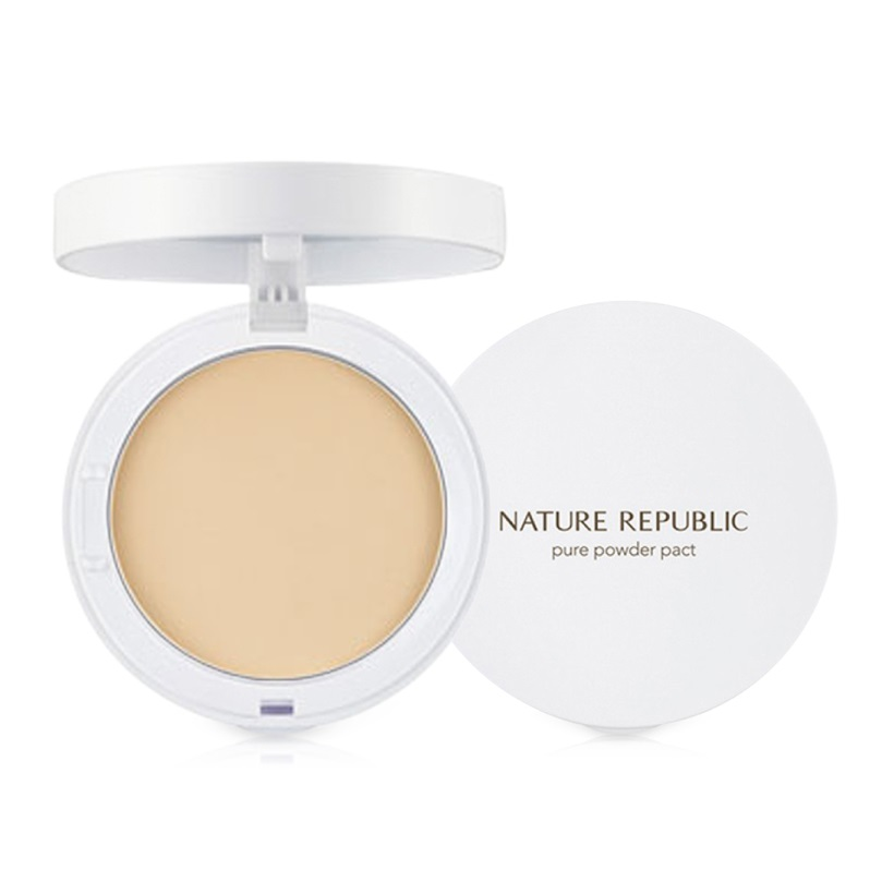 Phấn nén trà xanh Nature Republic Botanical Green Tea Pore Pact 1